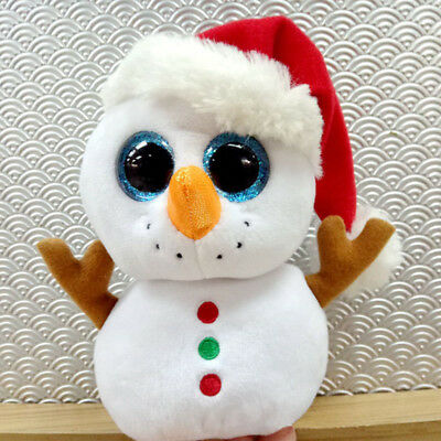 6 Inch Ty Beanie Boo PRESENTS Christmas Snowman Plush Toys Hard to Find A+++ New
