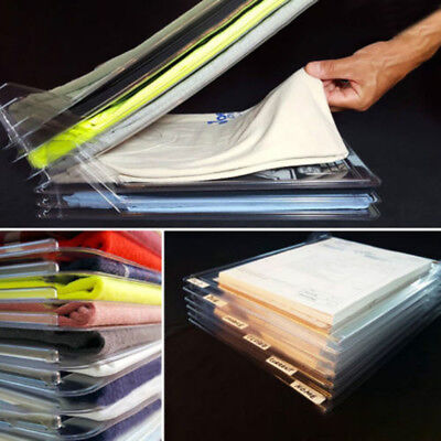 10 Pack Fast Clothes Fold Board Organization System Travel Closet Drawer Stack