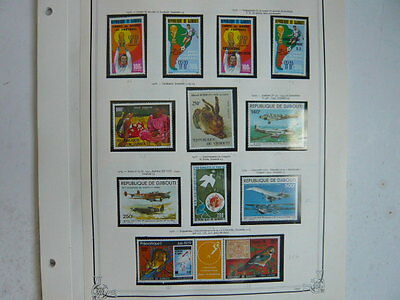 Collection Timbres Djibouti Neuf