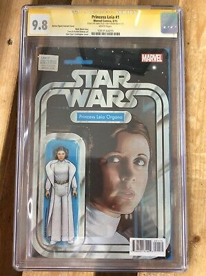Star Wars Leia #1 cgc signed by JTC 9.8