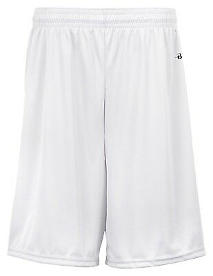 (Small, White) - Badger Big Boys' Moisture-Management Athletic Performance Short