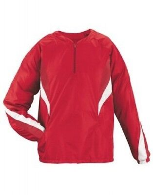 (Small, Scarlet/White) - Youth Viper Pullover Jacket. Teamwork. Free Shipping
