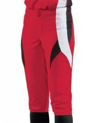 (Small, scarlet/black/white) - Women's Stinger Softball Pant. Teamwork