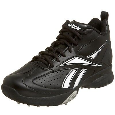 (10 D(M) US, Black/White) - Reebok Men's Field Magistrate Mid Baseball Cleat