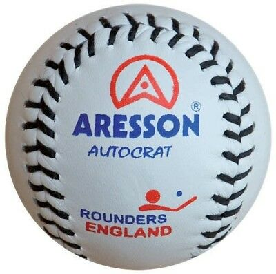 Aresson Autocrat Rounders Game Leather Competition Match Ball White