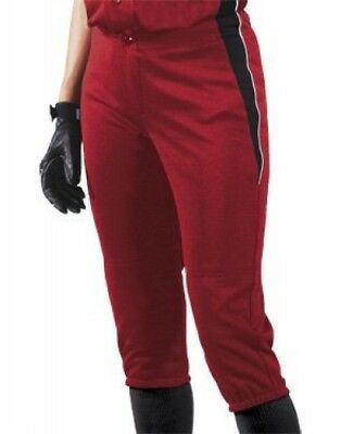 (Small, scarlet/black/white) - Women's Changeup Softball Pant. Teamwork