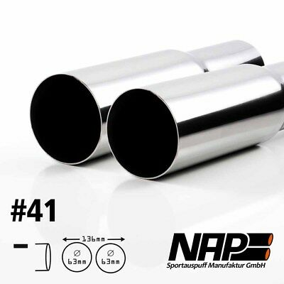 Nap Weld-On End Pipe 0 3/32x2 15/32In Sharp with Abe Stainless Steel