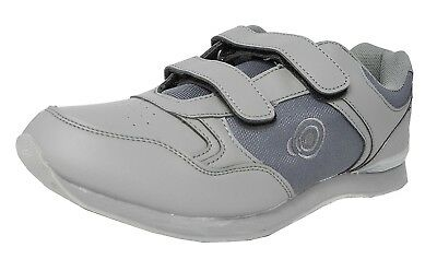 (6 UK) - Mens Flat Sole Lightweight Hook and loop Bowls Shoes Bowling Trainers