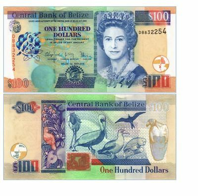 Belize 100 Dollars P 71 2016 Unc