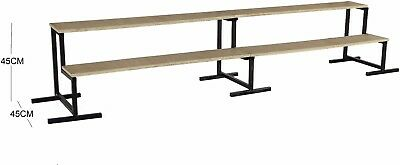2 Tier Step Unit 2.4M - 3m Long Market Stall Display Stand 225mm x 225mm Steps