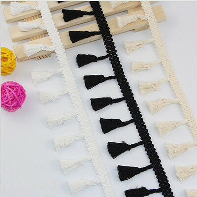 1/5/10Yards Vintage tassel Edge Trim Ribbon Bridal Sewing DIY Embroidered Craft