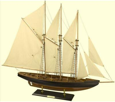 Atlantic Model Display Yacht 80cm Wooden Assembled Speed Record Holder Assembled