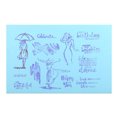 Dancing Women Transparent Clear Stamps For DIY Scrapbooking Decorative Craft New