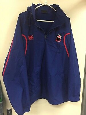 2XL Manly Marlins jacket with hood rugby union shute shield