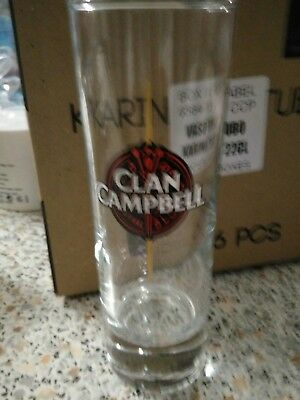 Lot 6 Verres Tube Whisky Clan Campbell