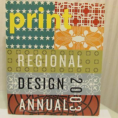 Print Magazine Regional Design Annual 2003 Graphic Art Design Advertising