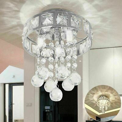 NEW Chrome Crystal LED Ceiling Lights Lamp Fitting Pendant Chandelier 4354U