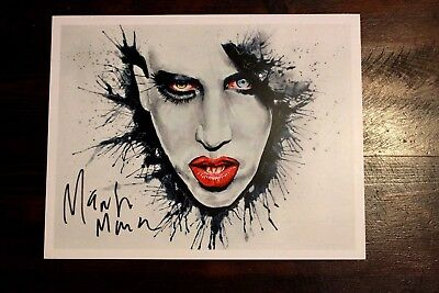 Authentic Marilyn Manson autographed lito print Rob zombie