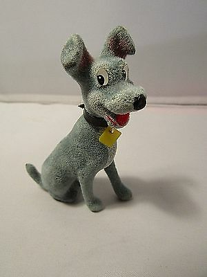 Rare 70s HCF Lady & The Tramp Flock Figure TRAMP with Original Packet & Label