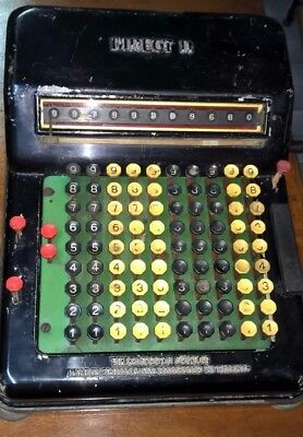 DIRECT II THEO MUGGLI del 1930 ANTICA CALCOLATRICE C/DISPLAY ANTIQUE CALCULATOR