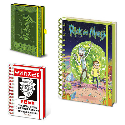 Rick And Morty Notebook Lined Gift Official GB Eye New UK Adult Swim A5 Journal