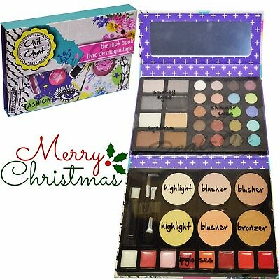 Chit Chat Look Book Cosmetics Christmas Gift Eyes Lips Face Eyebrow Makeup Kit