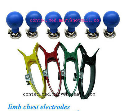 limb chest electrodes for CONTEC brand ECG/EKG Electrocardiograph,NEW,Promotion