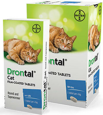 Drontal Cat 4 tablets Genuine German Product US Free Shipping Best Price