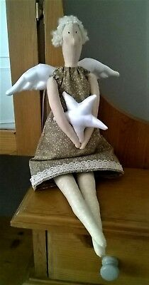 "Tilda inspired Angel doll ""Catch a star"" Handmade character, gift/decoration"