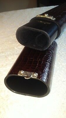 Ron Thomas 1x2x Gator Brown Leather Cue Case Simple Elegant Fellini Its George