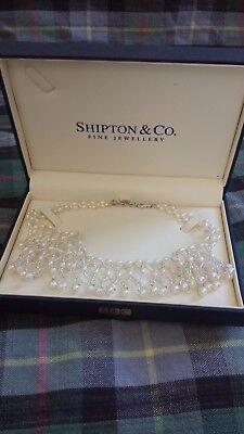 Beautiful, ornate pearl necklace from Shipton & Co; brand new