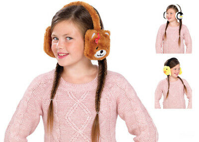 Kids Animal Earmuffs Winter Fleece Headband Faux Ear Muffs Warm & Soft Fluffy