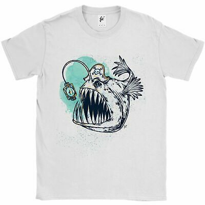 Sharp Tooth Pirate Captain Monster Piranha Fish Mens T-Shirt