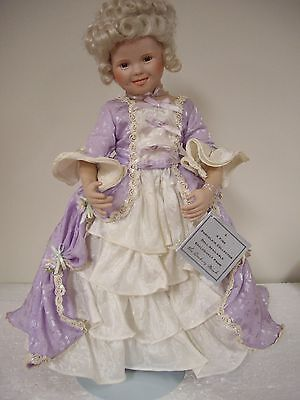 """Shirley Temple By Danbury Mint, 1993, 18"""" Inch Porcelain Doll"""