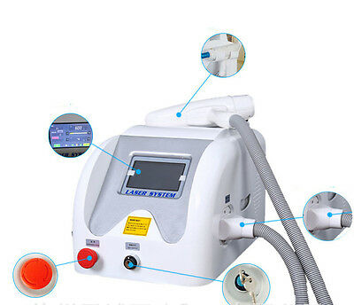 Q-switched nd yag laser tattoo pigment removal machine equipment 1064 532nm