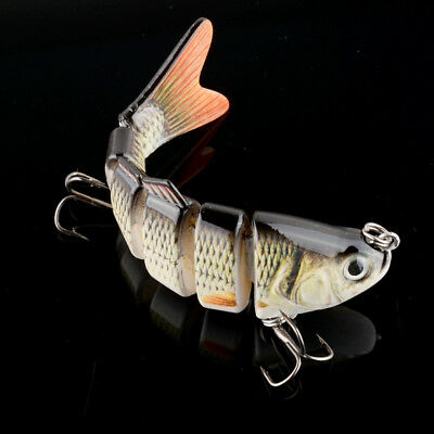 Swimbait 6 Jointed Sections Fishing Lure Crankbait Bass Bait 10cm/20g Tackle