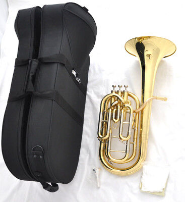 Professional Compensating system Gold Baritone Horn Gold Tenor Bb HORN Case