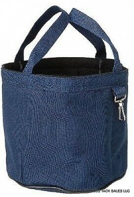Tough-1 Navy Blue Nylon Denier Grooming Caddy Western English Horse Tack Equine
