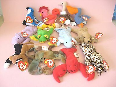 McDONALDS TOYS / TY BEANIE BABIES SOFT TOY SET x 12 / 1993