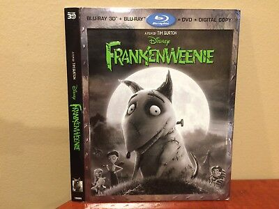 Frankenweenie 3D Blu-ray  (SLIPCOVER ONLY) - Free Shipping