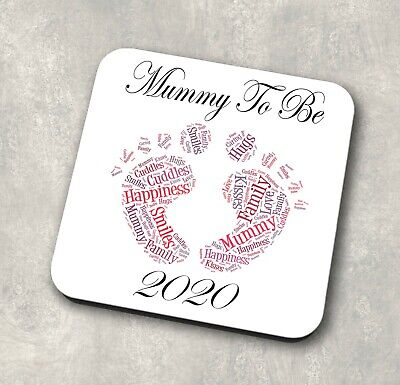 Personalised Mummy To Be mtb20 Coaster Gift Baby Scan Image New Mum Mothers Day