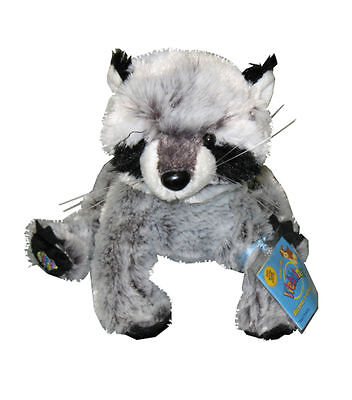 New Retired Ganz Webkinz Raccoon with Code/Includes Free Gift