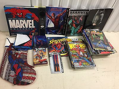 Large lot of Marvel & Dc BOOKs and Comics and Spider-man items Wizard Magazines