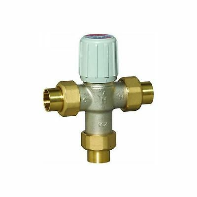"Honeywell AM101-US-1 Sparco Thermostatic Mixing Valve 3/4"" Union-Sweat 100-145F"