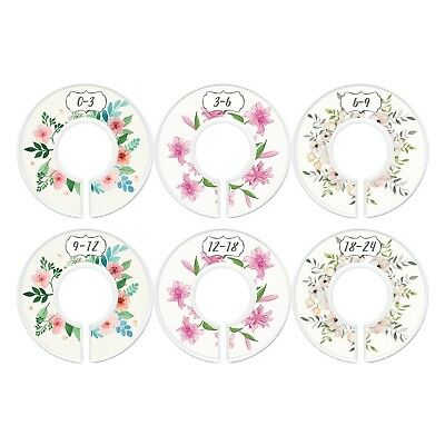 Baby Closet Dividers First Bouquet Girl Set of 6 Size Organizers Flowers