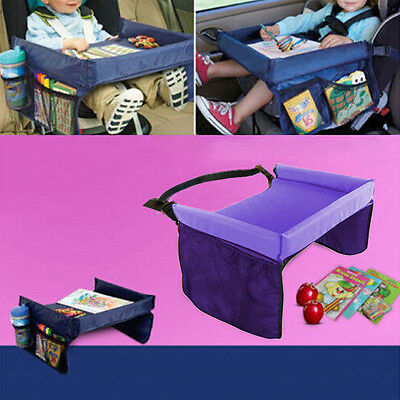 Kids Travel Play Car Tray Table Baby Car Seat Buggy Pushchair Snack TV Laptray