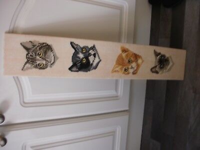 Vintage Four Cats Completed Tapestry