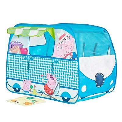 Pop Up Shaped Play Tent Wendy House (Worlds Apart) Peppa Pig Campervan Tent
