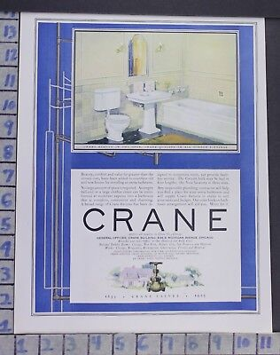 1925 Crane Bathroom Kitchen Interior Design Home Decor Vintage Art Ad  Bz52