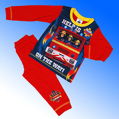 Boys Official Genuine Fireman Sam Pyjamas Age 18 Months 2 3 4 5 Years 97
